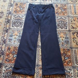 J CREW City Fit blue pinwale cord trousers size 0